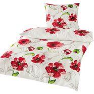 bierbaum overtrekset red flowers met klaprozen (2-delig) wit