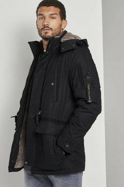tom tailor winterjack winterparka met rijgkoord zwart