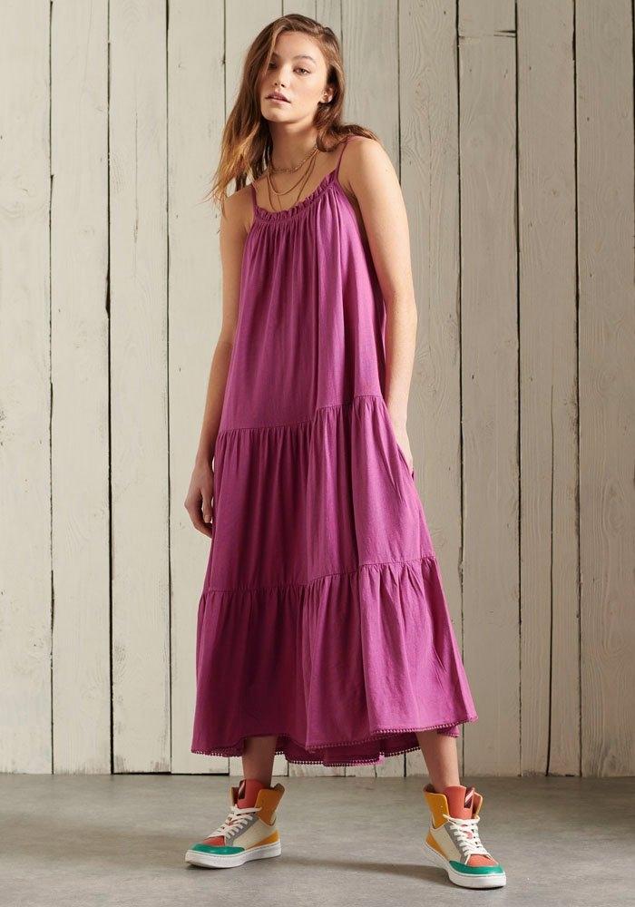 Superdry Midi-jurk JERSEY MIDI DRESS voordelig en veilig online kopen