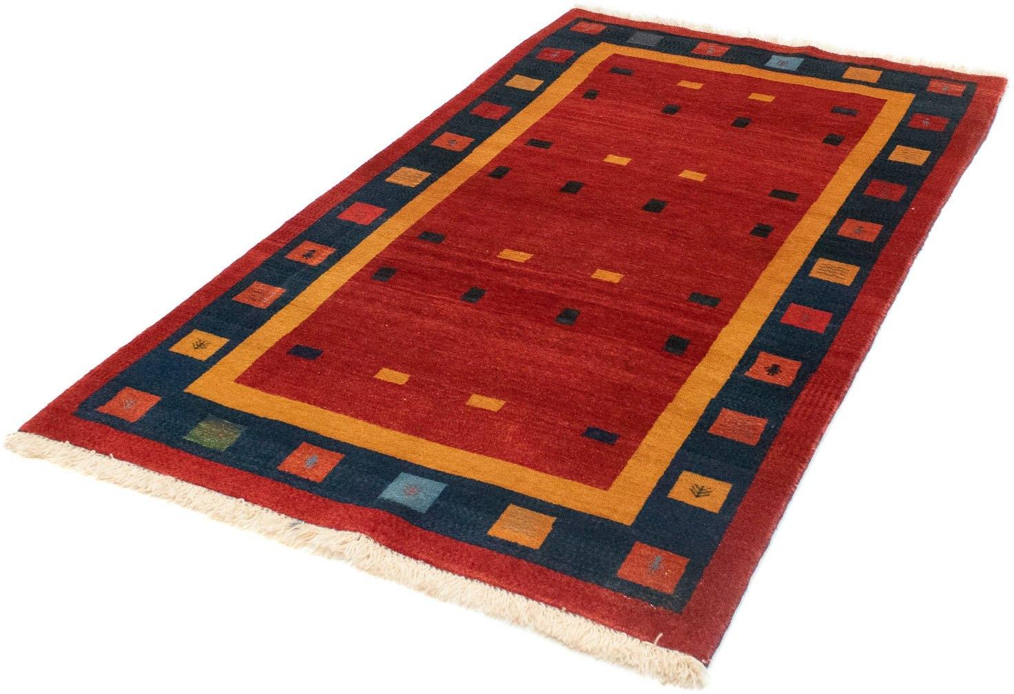 morgenland wollen kleed Loribaft Teppich handgeknüpft rot handgeknoopt nu online bestellen