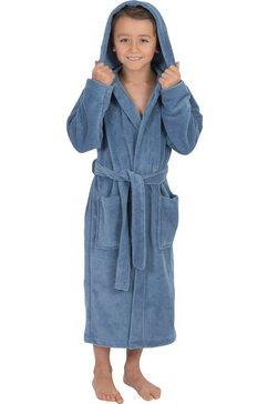 wewo fashion kinderbadjas 8521 met softtouch (1 stuk, met riem) blauw