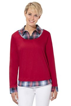 casual looks 2-in-1-shirt rood