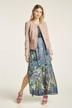 ashley brooke by heine gedessineerde jurk met gesmokte off-shoulder-top multicolor