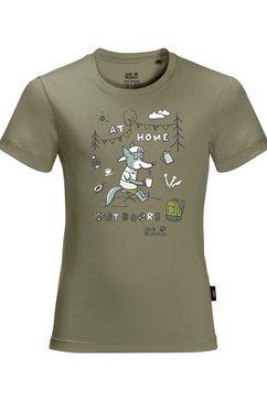 jack wolfskin t-shirt groen