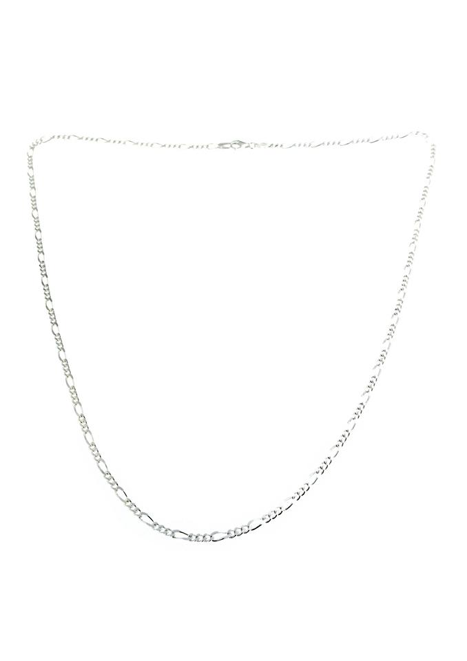 Firetti halssieraad: halsketting/collierkettinkje met Figaro-kettingschakels, 2-voudig gediamanteerd bestellen: 30 dagen bedenktijd