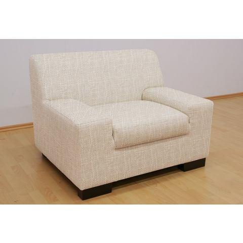 Kubusvormige fauteuil met extra brede armleuningen