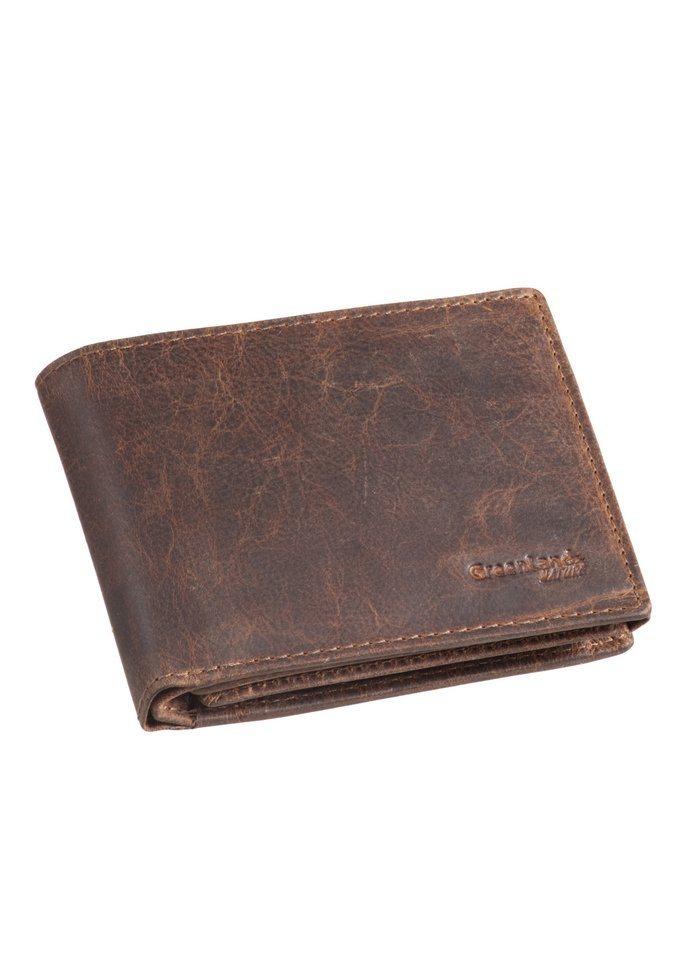 GREENLAND Leren portemonnee van buffelleer