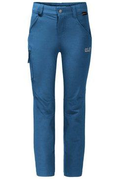jack wolfskin softshell-broek activate pants kids blauw