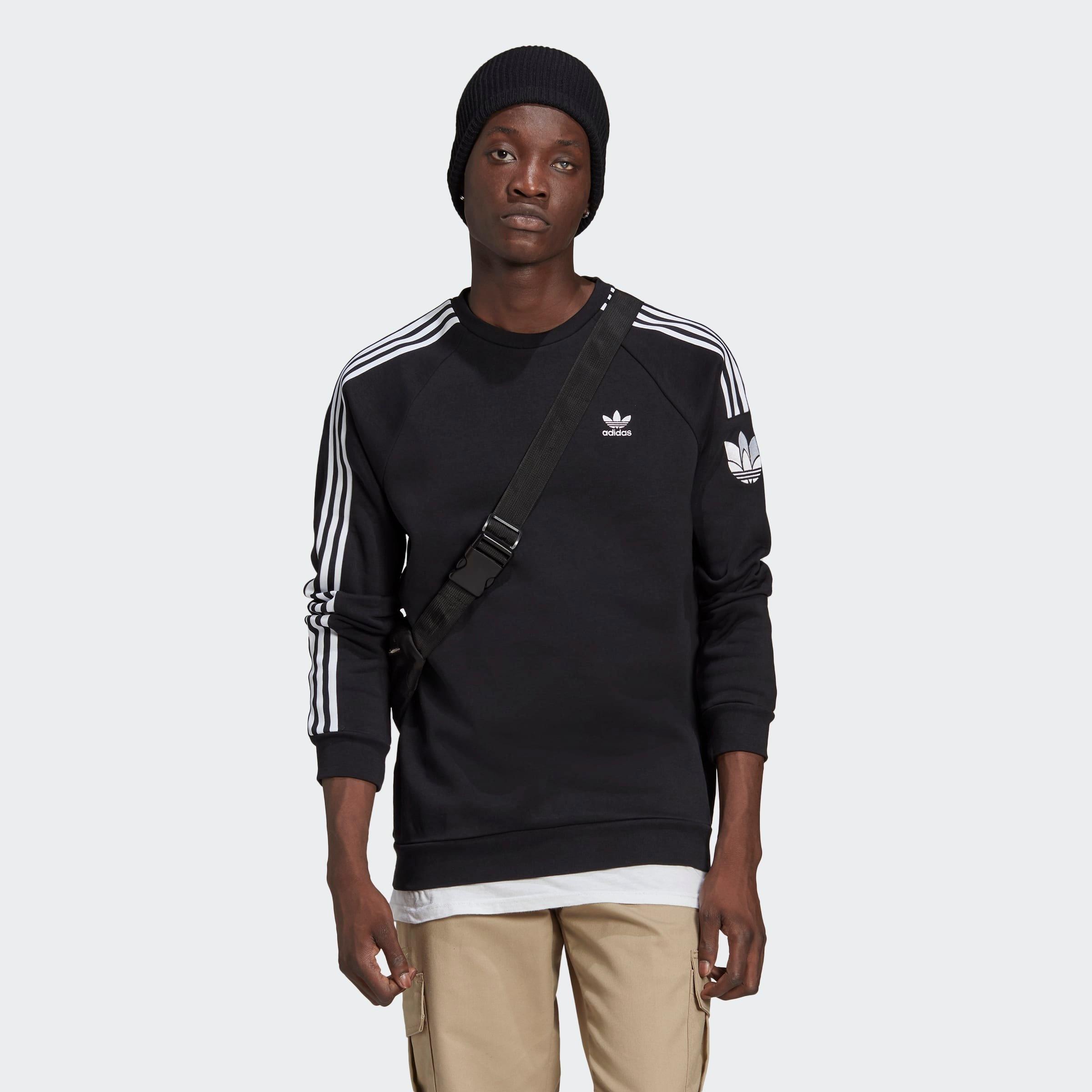 adidas Originals shirt met lange mouwen LOUNGEWEAR ADICOLOR 3D TREFOIL 3 STRIPES bij OTTO online kopen