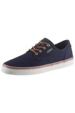s.oliver sneakers met contrast-doorstiknaad blauw