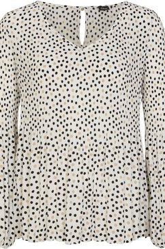 s.oliver black label plisseblouse met leuke plissédetails op de mouwen en in de body wit