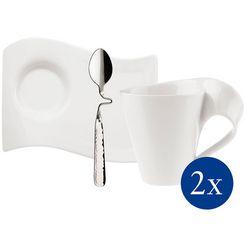 villeroy  boch beker newwave caffè (set, 6-delig) wit