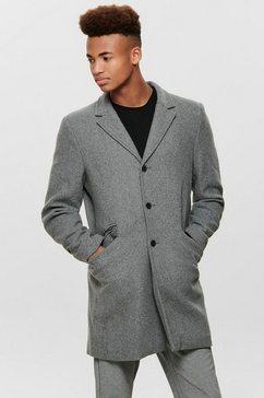 only  sons wollen jas »julian solid wool coat« grijs
