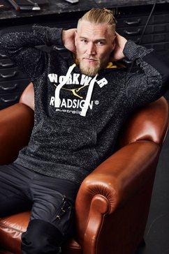 roadsign australia tricot-fleecetrui »hoodie« grijs