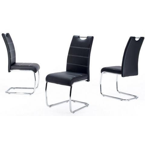 Vrijdragende stoel in set van 2 of set van 4