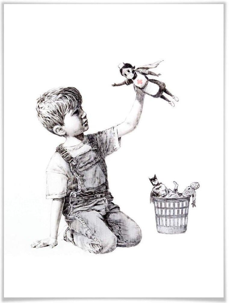 Wall-Art poster Graffiti afbeelding Real Hero Poster, artprint, wandposter (1 stuk) online kopen op otto.nl