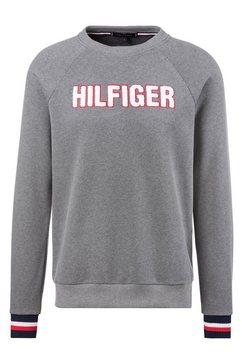 tommy hilfiger sweatshirt met logoapplicatie grijs