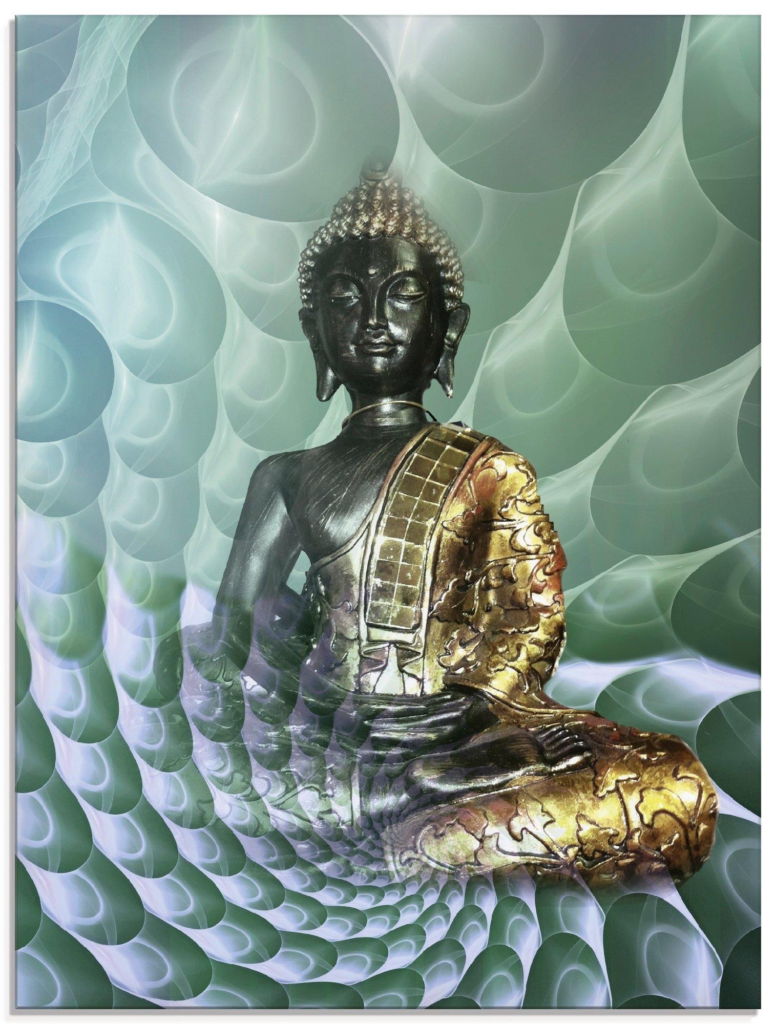 Artland print op glas Boeddha's droomwereld CB (1 stuk) goedkoop op otto.nl kopen