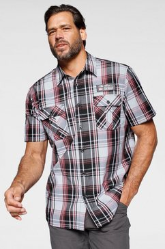 man's world overhemd met korte mouwen met twee borstzakken wit