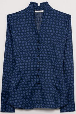 eterna blouse met lange mouwen »modern classic« blauw