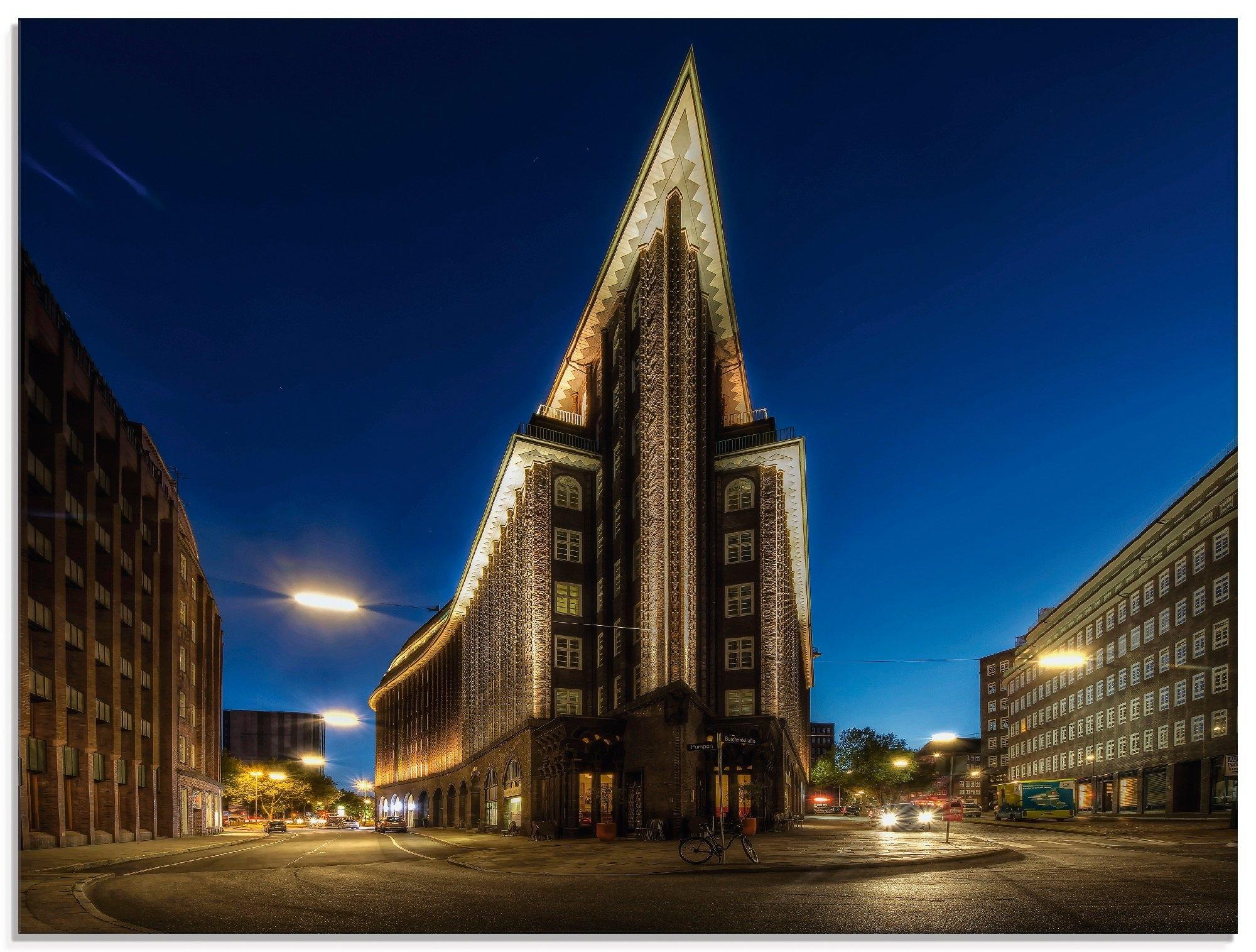 Artland print op glas Hamburg Chilehaus (1 stuk) bij OTTO online kopen