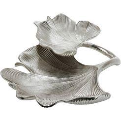 gilde decoratieve schaal schale ginkgo blatt, silberfarben (1 stuk) zilver