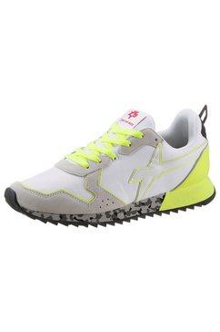 w6yz sneakers jet-m met contrastbeleg wit