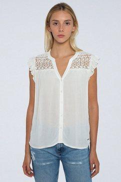 pepe jeans kanten blouse pia wit
