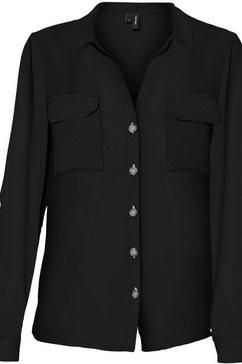 vero moda overhemdblouse vmbumpy zwart