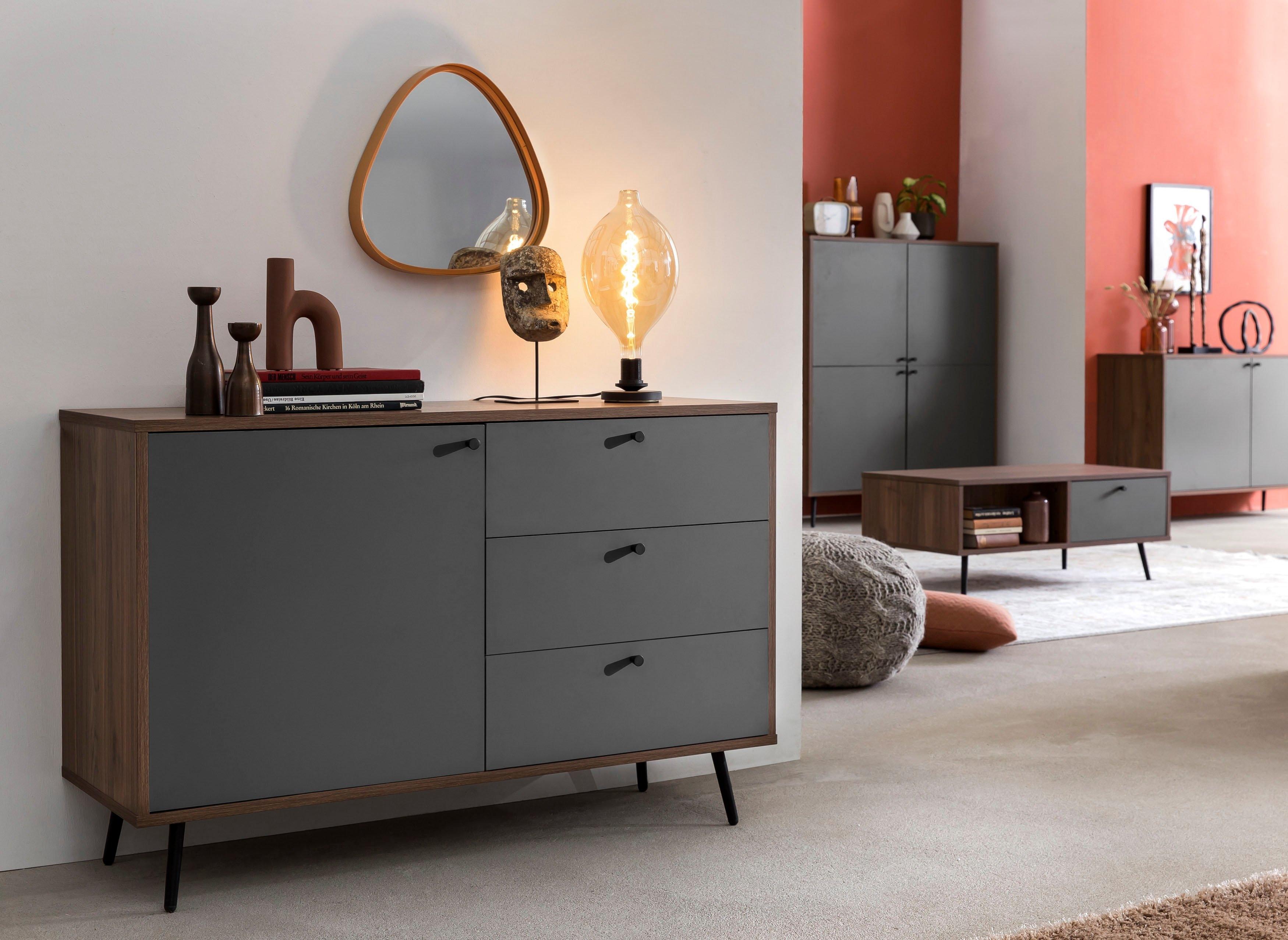 SalesFever dressoir in moderne kleurencombinatie van walnoot en grijs veilig op otto.nl kopen