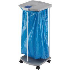 hailo vuilniszakstandaard profiline ws, uno 120 liter, met rollen grijs
