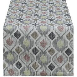 hossner - homecollection tafelloper warena (1 stuk) grijs