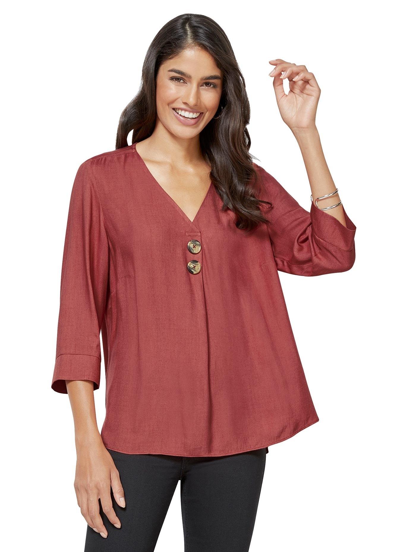 Classic Inspirationen blouse zonder sluiting nu online kopen bij OTTO
