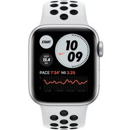 apple »nike series 6 gps + cellular, aluminiumgehaeuse mit nike sportarmband 40mm« watch zilver