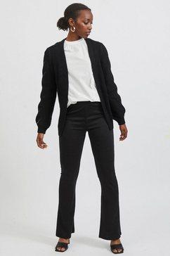 vila vest vienia cardigan met een decoratief breimotief zwart