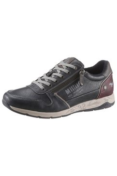 mustang shoes sneakers met praktische ritssluiting blauw