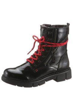 mustang shoes hoge veterschoenen zwart