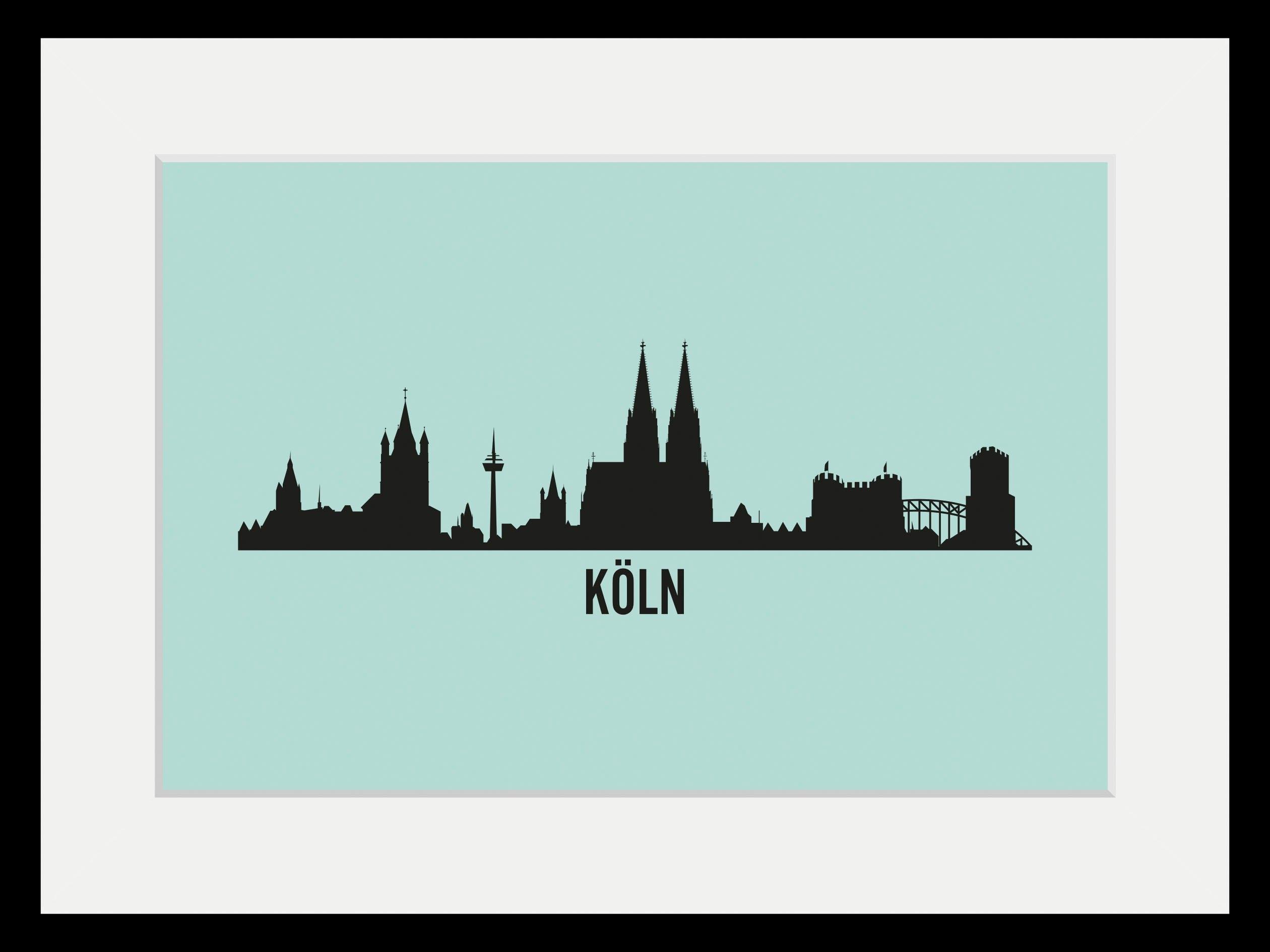 queence wanddecoratie Keulen Skyline (1 stuk) bestellen: 30 dagen bedenktijd