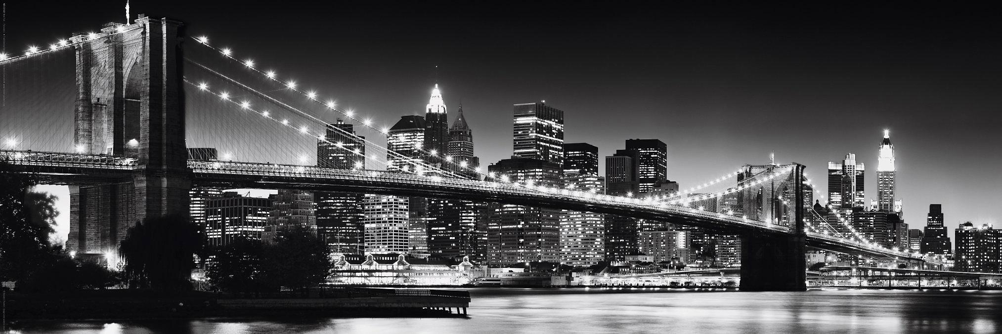 Reinders! wanddecoratie New York - Brooklyn Bridge black & 90/30 cm nu online bestellen