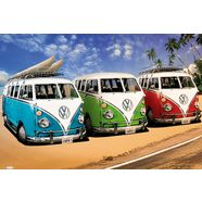 home affaire wanddecoratie vw californian camper - campers 90-60 cm multicolor