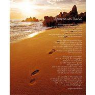 home affaire artprint »sporen in het zand« bruin