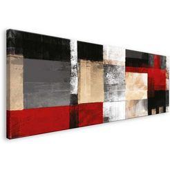 home affaire artprint op linnen square 150-57 cm rood