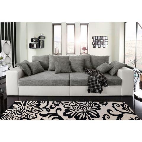 woonkamer extra groot bankstel zwart Megabank ook met slaapfunctie 73
