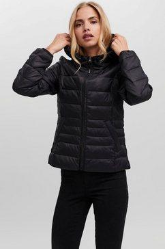 vero moda gewatteerde jas vmmikkola short hoody jacket zwart