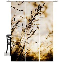 emotion textiles paneelgordijn windvlaag sepia hxb: 260x60, inclusief bevestigingsmateriaal (3 stuks) multicolor
