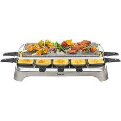 tefal raclette pierrade pr457b grillplaat van steen zilver