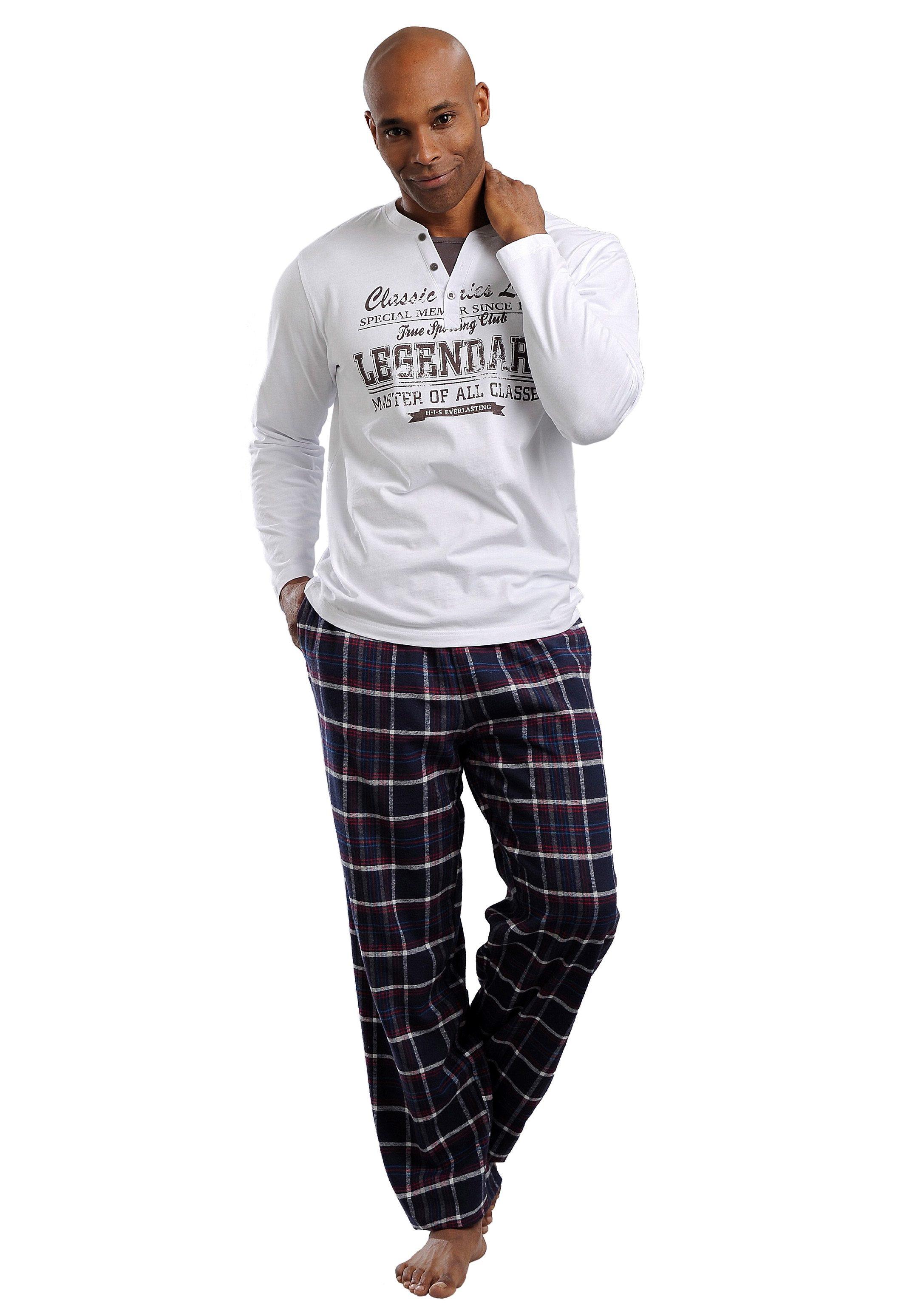 Jersey pyjama met opdruk Wit