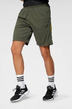 adidas performance functionele short »3 stripes knit shorts« groen