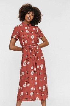 vero moda midi-jurk vmmellie rood