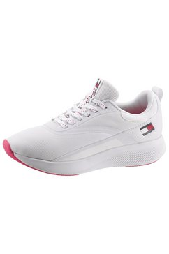 tommy sport sneakers met sleehak »ts sport 2 women« wit